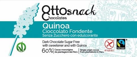Cioccolato Ottosnack Fondente Senza Zucchero con Quinoa 100 grammi